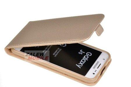 ETUI KABURA FLEXI do Samsung Galaxy J5 J500 złoty