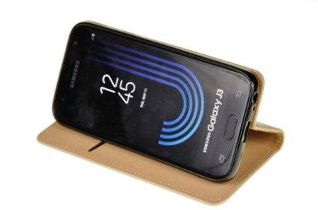 ETUI SMART W2 do SAMSUNG GALAXY J3 2017 J330 złoty