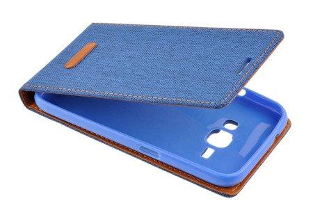 Etui Kabura Flexi Canvas do SAMSUNG GALAXY J1 2016 J120 niebieski