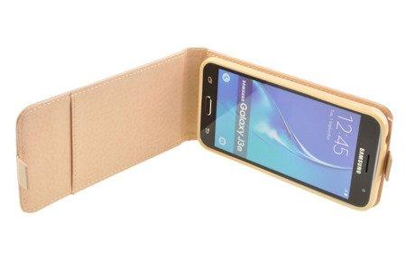 Etui Kabura Flexi do SAMSUNG Galaxy J3 2016 J320 złoty