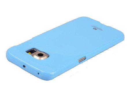 Etui Mercury Goosper Jelly Case do SAMSUNG GALAXY S6 EDGE G925 błękitny