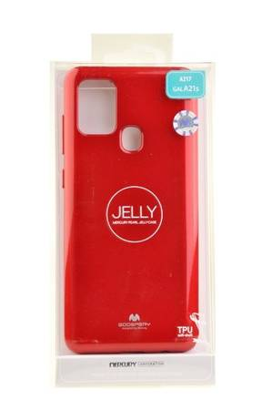 Etui Mercury Goospery Jelly Case do Samsung Galaxy A21s czerwony