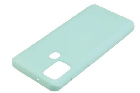 Etui Mercury Goospery Soft Feeling do Samsung Galaxy A21s miętowy