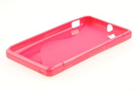 Etui Nakładka Silikonowa S-case  do SONY XPERIA M różowy