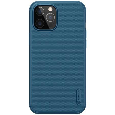 Etui Nillkin Super Frosted Shield Pro do Apple iPhone 12 / 12 Pro niebieski