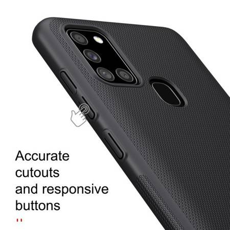 Etui Nillkin Super Frosted Shield do Samsung Galaxy A21s czarny