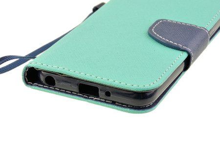 Etui Portfel Fancy Case do LG Q6 miętowy