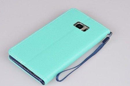 Etui Portfel Fancy Case do SAMSUNG GALAXY S7 Edge G935 mietowy