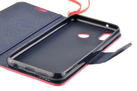 Etui portfel Fancy Case do HUAWEI P20 Lite różowy