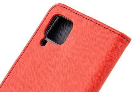 Etui portfel Fancy Case do Huawei P40 Lite czerwony