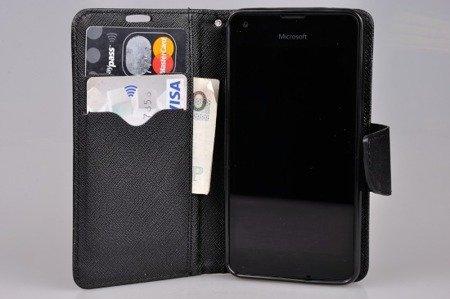 Etui portfel Fancy Case do MICROSOFT LUMIA 550 czarny