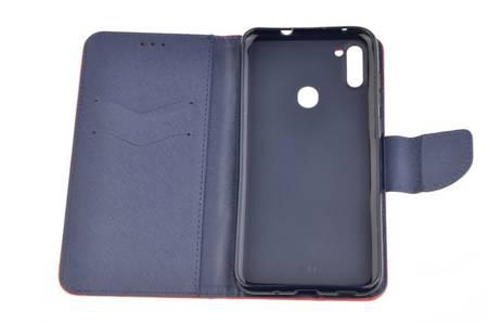 Etui portfel Fancy Case do Samsung Galaxy M11 / A11 czerwony