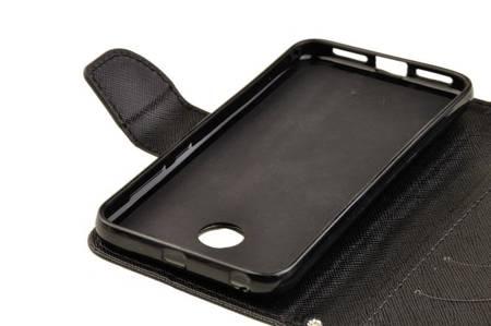 Etui portfel Fancy Case do Xiaomi Redmi 4X czarny