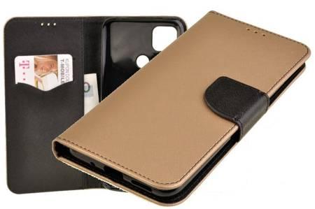 Etui portfel Fancy Case do Xiaomi Redmi 9C złoty