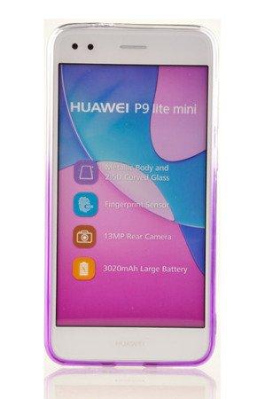Etui silikonowe brokatowe Shine do HUAWEI P9 Lite Mini fiolet