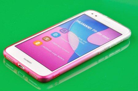 Etui silikonowe brokatowe Shine do HUAWEI P9 Lite Mini różowy