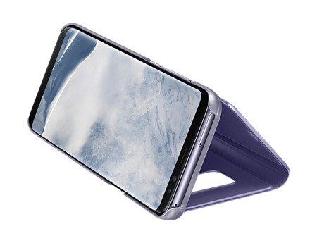 Oryginalne Etui Clear View Standing Cover do SAMSUNG Galaxy S8 Plus S8+ G955 fiolet