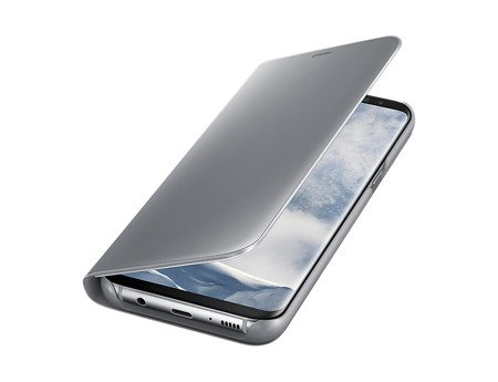 Oryginalne Etui Clear View Standing Cover do SAMSUNG Galaxy S8 Plus S8+ G955 srebrny