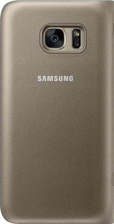 Oryginalne etui Led View Cover do SAMSUNG GALAXY S7 złoty