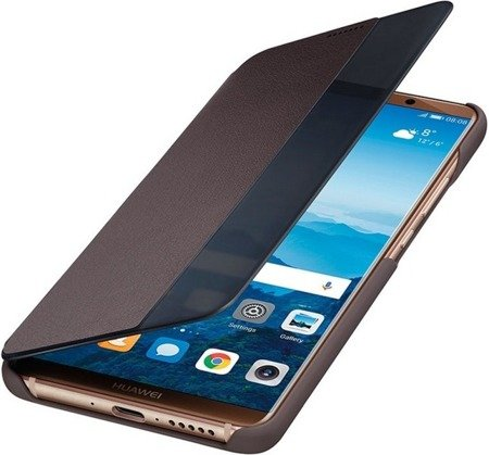 Oryginalne etui Smart View Flip Cover do HUAWEI Mate 10 Pro brązowy