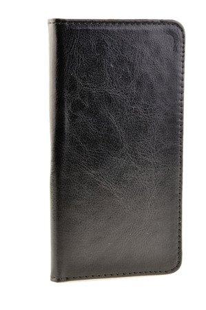 Skórzane Etui Book Cover do LG Q6 czarny