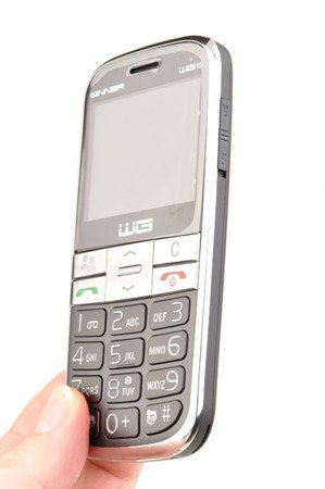 Telefon komórkowy Winner WG15c dla seniora babci dziadka czarny