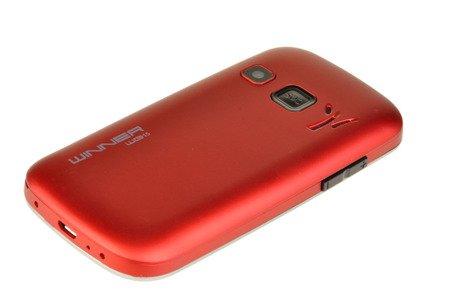 Telefon komórkowy Winner WG15c dla seniora babci dziadka czerwony