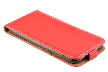 ZESTAW: Etui kabura Flexi Rubber + Szkło do HUAWEI MATE 10 Lite czerwony